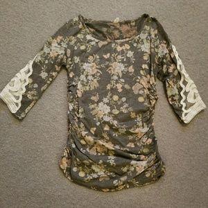 Pink Blush Maternity 3/4 length shirt
